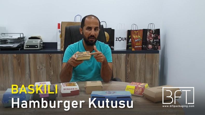 Logolu ve Baskılı Hamburger Kutusu