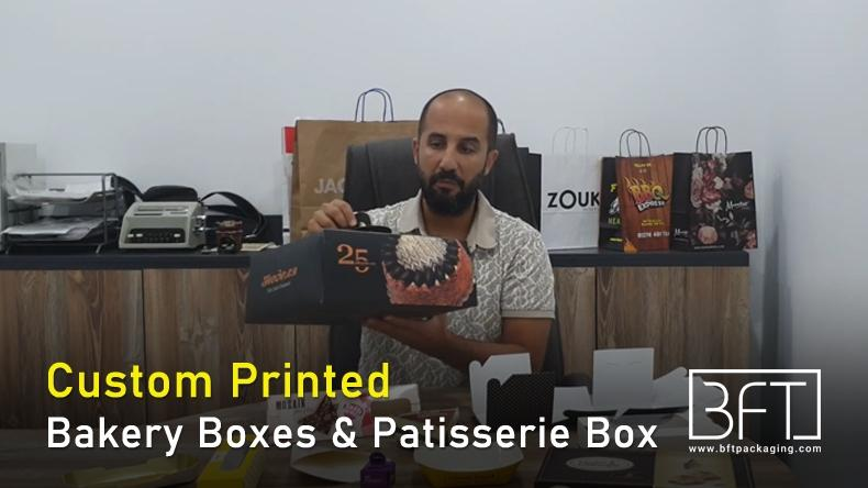 Custom Printed Bakery Boxes & Patisserie Box