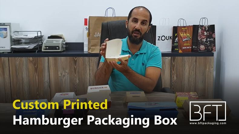 Custom Printed Hamburger Packaging Box