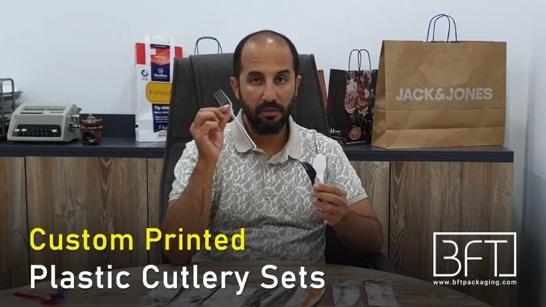 Custom Printed Printed Plastic Cutlery Sets