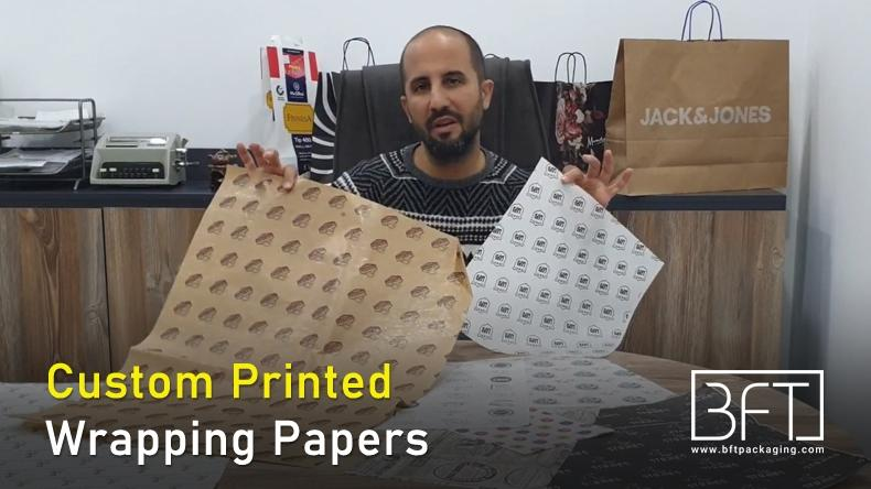 Custom Printed Wrapping Papers - Bft Packaging