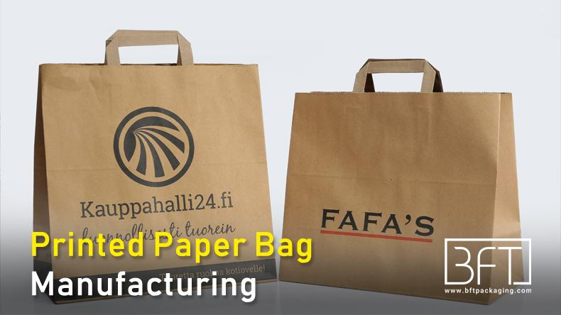 Printed Paper Bag Manufacturing & Suppliers