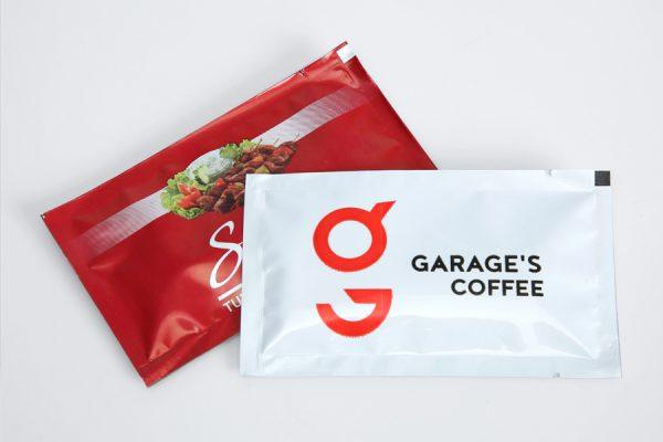 Logo on Custom Printed Single Wet Wipe - Bft Packaging