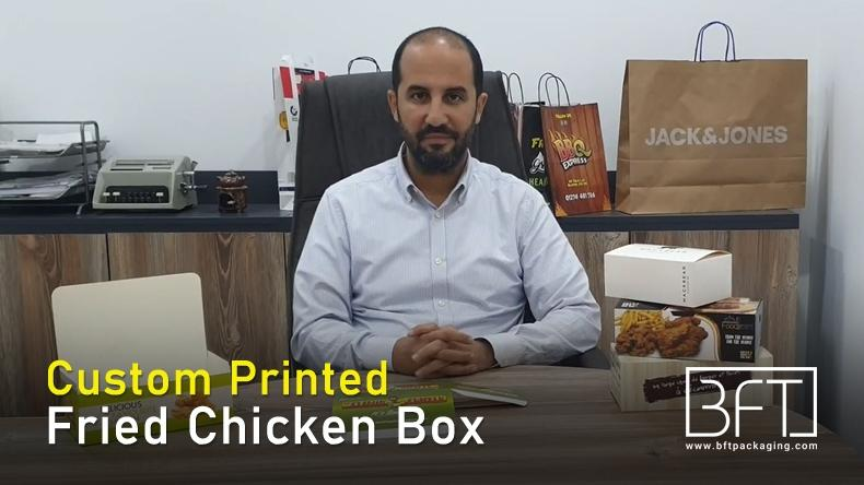 Logo on Custom Printed Fried Chicken Box - Bft Packaging