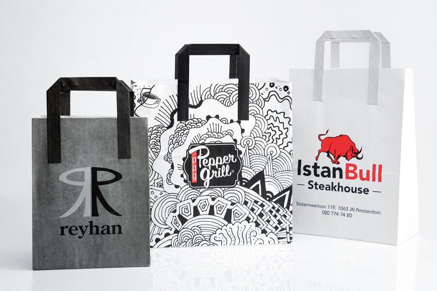 Logo Printed Paper Bags Order